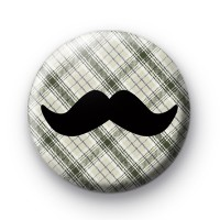Green Tartan Movember Moustache badge thumbnail