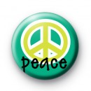 Green Peace Symbol Button Badges