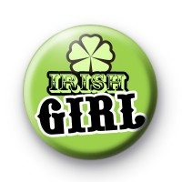 Green Irish Girl Shamrock Badges