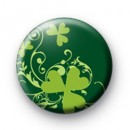 Green Shamrock Pattern badge