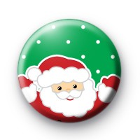 Green Smiley Santa Button Badges