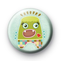 Green Sweet Monster Badge