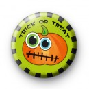 Trick or Treat Green and Orange Pumpkin badge