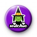 Witchie Green Halloween Badge