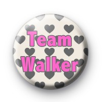 Grey Hearts with Pink Text Custom Name badges