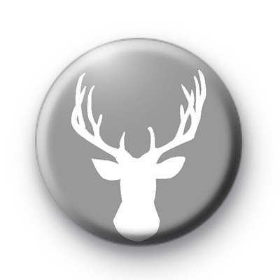 Grey and White Stag Badge