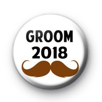 Moustache Groom 2018 Badge