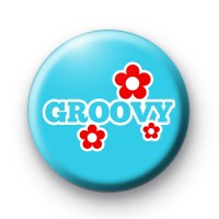 Blue Groovy Badge