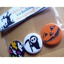 Halloween Set of 3 Badges