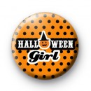 Orange Halloween Girl Badges