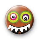 Halloween Orange Monster Badge