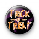 Trick or Treat Orange Halloween Badge