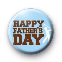 Happy Father's Day Golf Badge