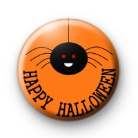 Happy Halloween Spider Badge