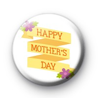 Yellow Happy Mothers Day Badge