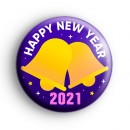 Purple Happy New Year 2021 Bells Badge
