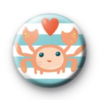 Happy Seaside Crab Badge