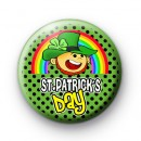 Leprechaun Happy St Patrick's Day Badge