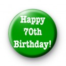 Happy 70th Birthday badge