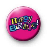 Happy Birthday Pink Badge