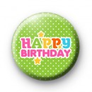 Happy Birthday Stars Button Badges
