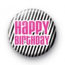 Happy Birthday Zebra Pattern badge