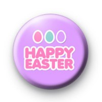 Purple Happy Easter Badge