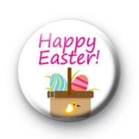 Happy Easter Egg Basket Badges