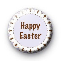 Happy Easter Cross Badges