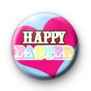 Happy Easter Love Heart badges