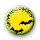 Happy Halloween Bats Badge
