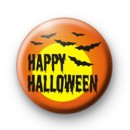 Spooky Happy Halloween Orange Badge