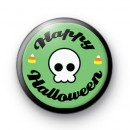 Skull Spooky Happy Halloween badge