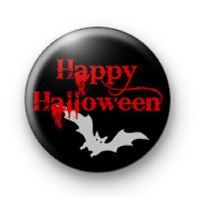 Red Spooky Happy Halloween Badge