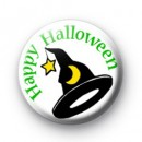 Witch's Hat Happy Halloween Badge