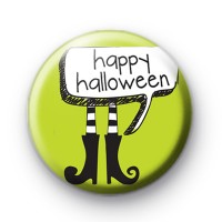 Happy Halloween Witches Boots Badge