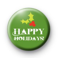 Green Happy Holidays Badge