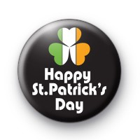 Happy St Patricks Day Shamrock Badge