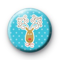 Happy Xmas Reindeer Badges