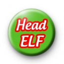 Head Elf Button Badge