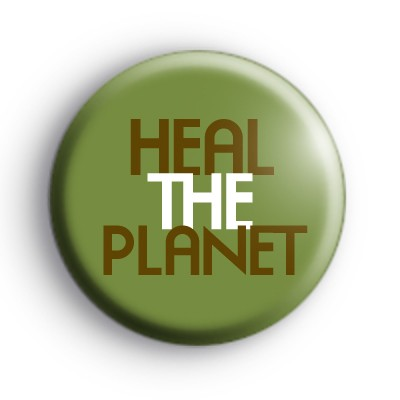 Heal The Planet Climate Change Badge
