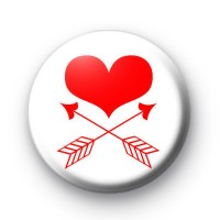 Heart and Arrows Valentines Badge