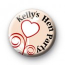 Custom Heart Hen Party badges
