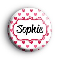 Hearts Galore Custom Name Badge