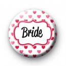 Hearts Galore Bride Button Badges