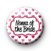 Hearts Galore Nonna of the bride badge