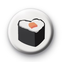 Sushi Heart Shaped Food Badge