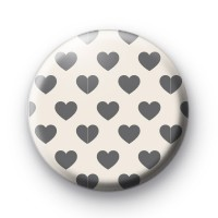 Grey Hearts Over and Over Badge