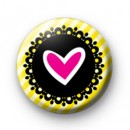 Heart Yellow Stripes Badge