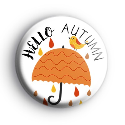 Hello Autumn Umbrella Badge